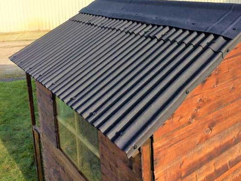 How much water can you save on a shed roof?